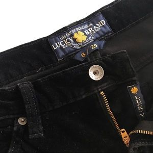 ☮️Lucky Brand Zoe Straight Velvet Black Jeans